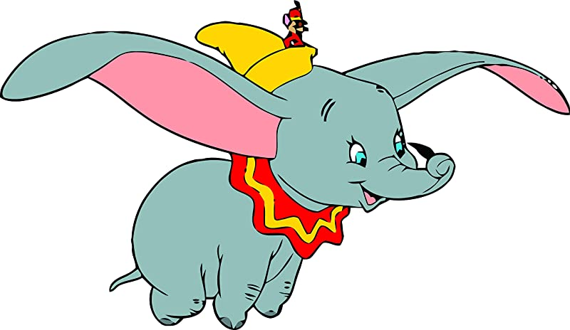 Dumbo Flying Elephant Disneyland Cartoon Cartoons TV Show Character Baby Nursery Design Babies Kids Kid Vinyl Art Decor Decoration Wall Decals Decal Walls Stickers Sticker Rooms Size 15x20 Inch