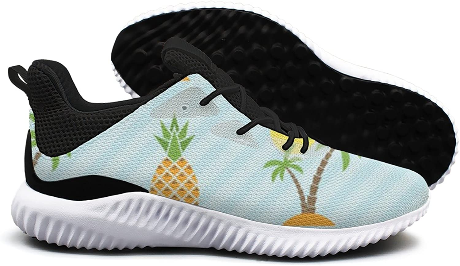 Island and Pineapple Pattern Leisure Sports Running shoes Women Camping Novelty Active 8.5 Size