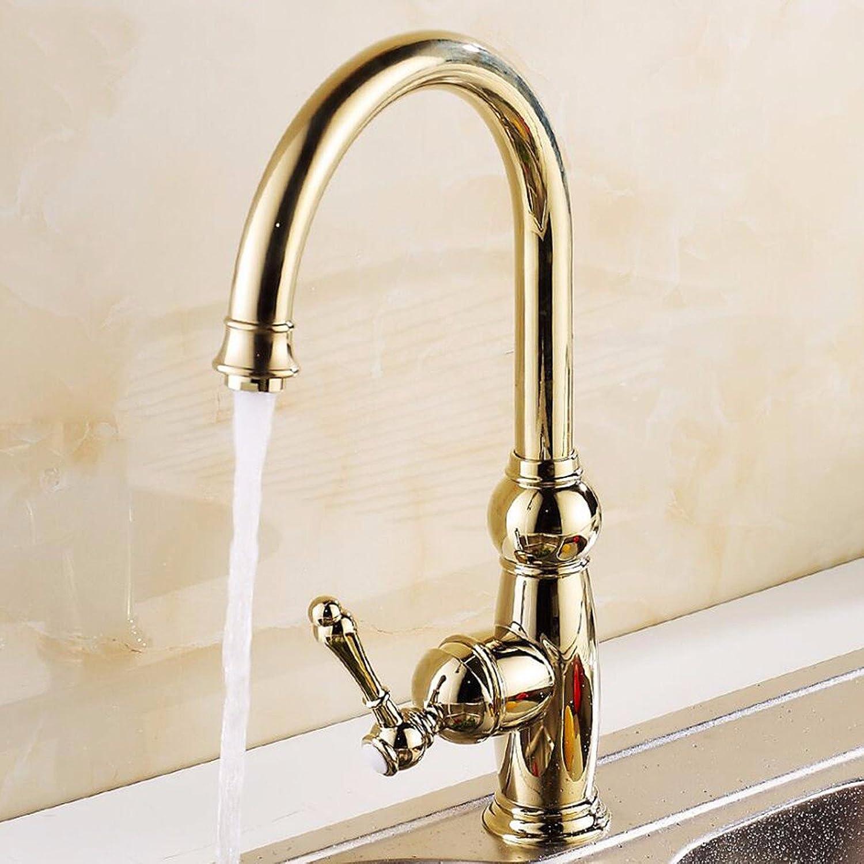 Bijjaladeva Wasserhahn Bad Wasserfall Mischbatterie WaschbeckenDie Goldenen Küche Wasserhahn Warmes und Kaltes Voll Kupfer Kalte und Warme Gerichte zu Drehen und Waschtisch Armatu