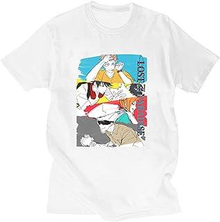 Camiseta Jujutsu Kaisen Gojo Satoru Camiseta Jujutsu Kaisen de Manga Corta con Cuello Redondo Yuji Itadori tee Tops