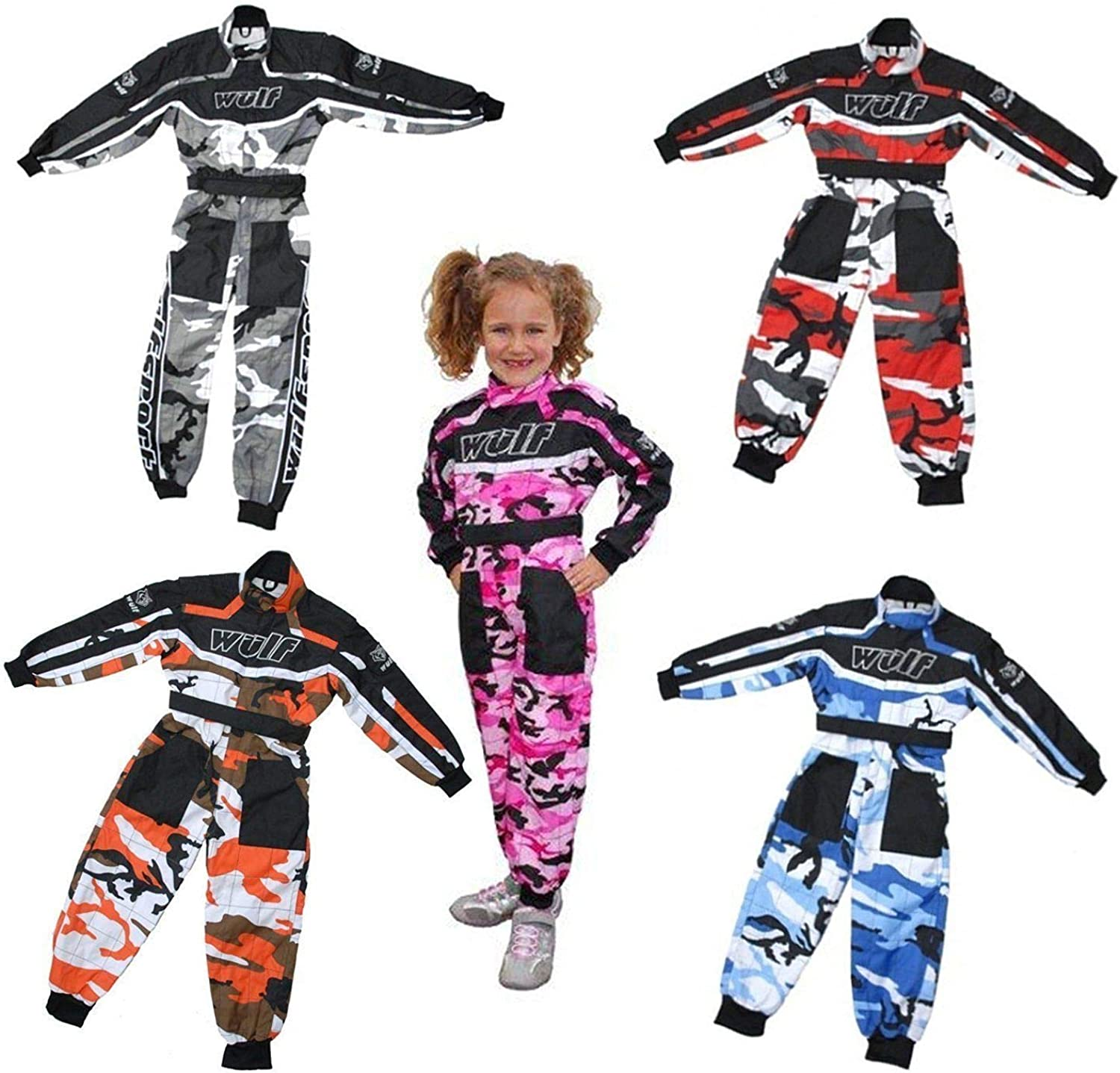 NEW AGE 11-13 WULFSPORT OVERALLS RACE SUIT MOTOCROSS QUAD GO KARTING WULF YOUTH
