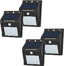JHBOX Solar Lights Outdoor Motion Sensor, Wireless LED Lights, 30 LED Solar Security Lights Waterproof Outdoor Lighting Pr...