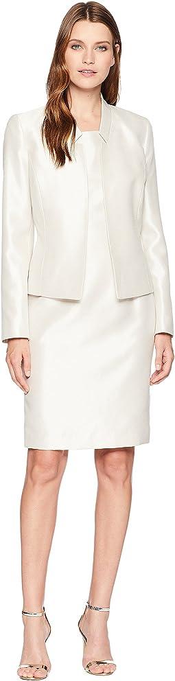 Shiny Fly Away Jacket & Sheath Dress