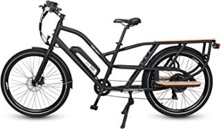 """Go Power Bike- GO Cargo Electric Bicycle 26"""" Tires 750W with A Removable 48v 10AH Battery - Lightweight and High Speed E-Bike Up to 20MPH - All Terrain Cargo Delivery Commuter Bicycle - Pedal Assist"""