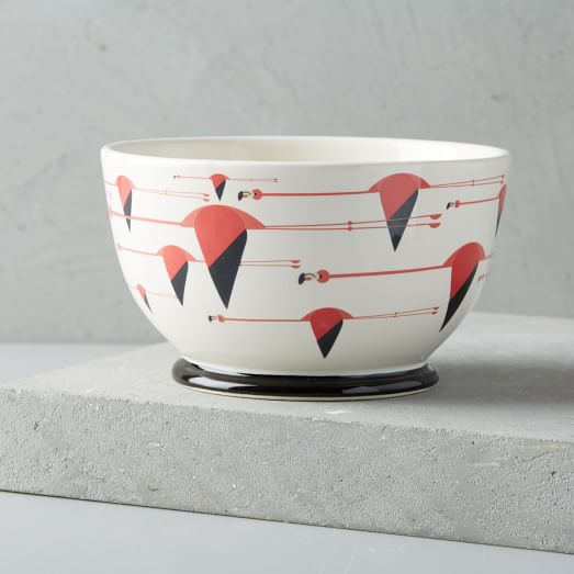 Fishs Eddy Charley Harper Bowl - Flamingo | west elm
