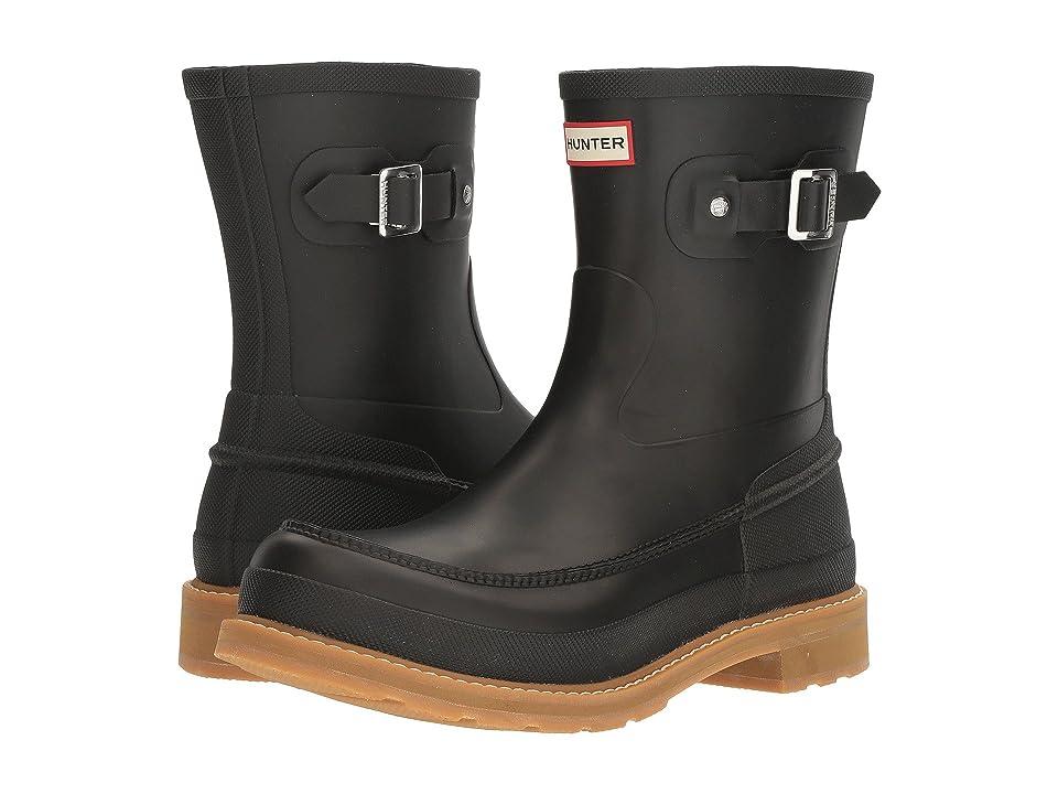 Hunter Original Moc Toe Short Rain Boots (Black) Men