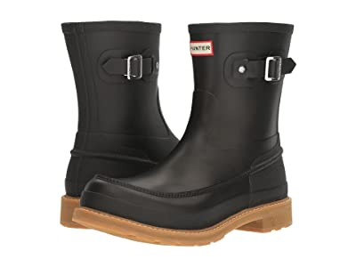 Hunter Original Moc Toe Short Rain Boots (Black) Men