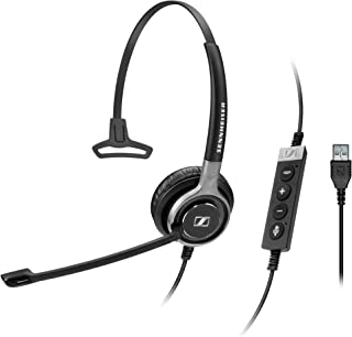 Sennheiser SC 630 USB ML (504552) - Single-Sided Business Headset | For Skype for Business | with HD Sound, Ultra Noise-Cancelling Microphone & USB Connector (Black)