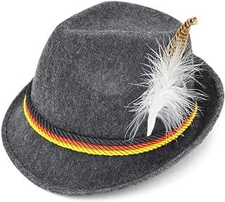 Adult Felt Swiss German Alpine Bavarian Oktoberfest Hat Cap