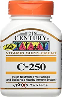21st Century 250Mg Vitamin C Tablets, 2 Count