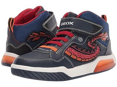 Geox Kids Jr Inek 7 (Big Kid) (Navy/Red) Boys Shoes