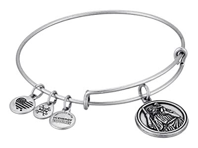 Alex and Ani Saint Christopher III Bangle (Rafaelian Silver) Bracelet
