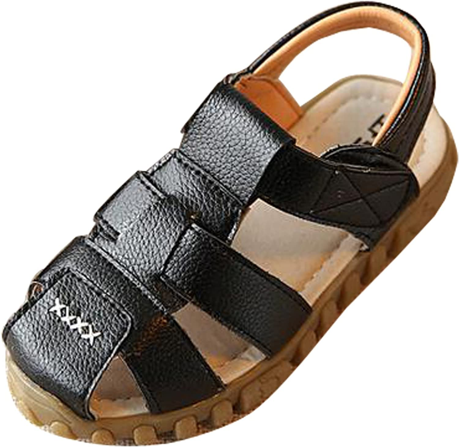 Kid Child Boy Leather Closed Toe Sandals Beach Flat Oxford Water Shoes Loafers