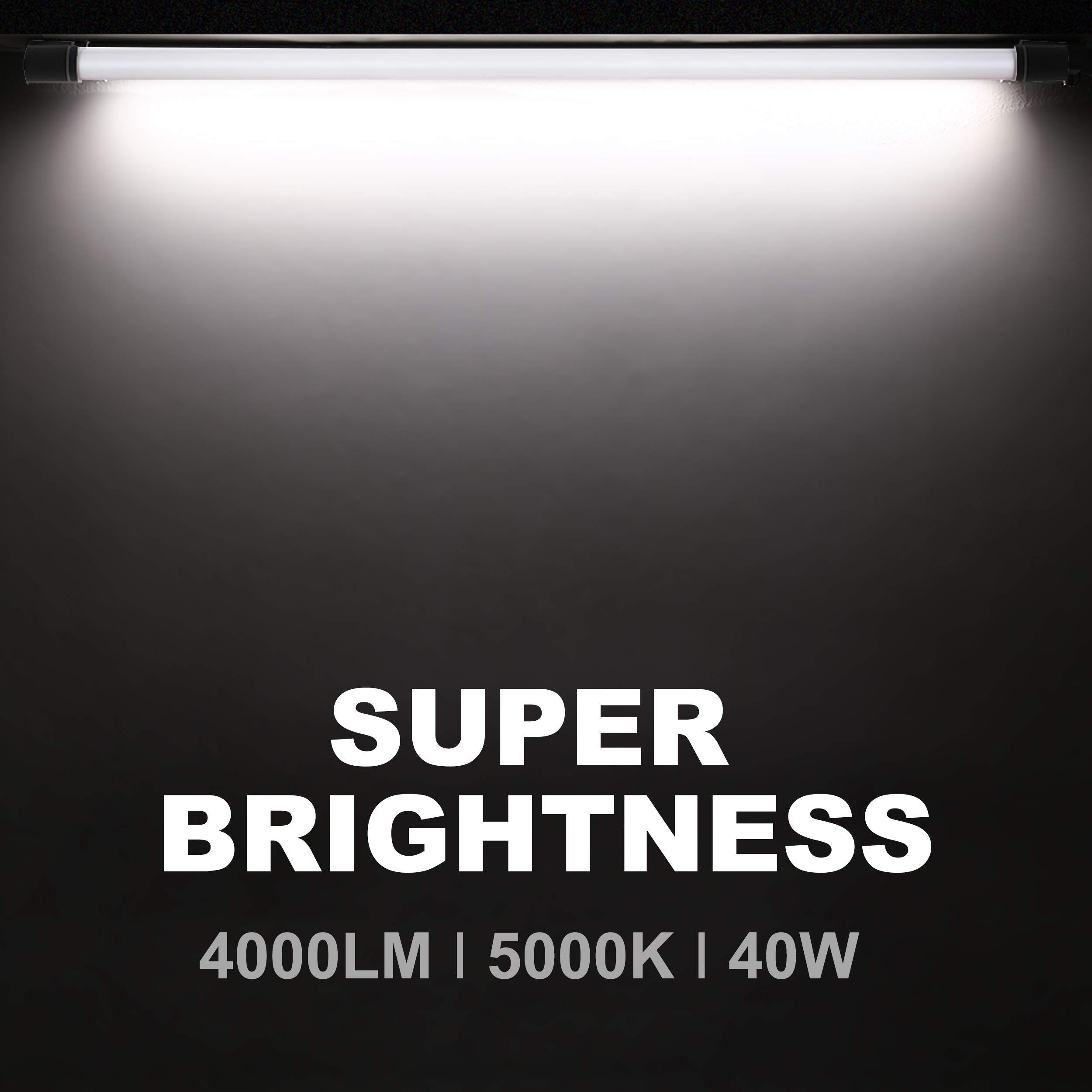 4 Pack LED Shop Light for Garage 36W 4FT 48 Inch BBOUNDER 3600 Lumens LED Utility Shop Light Fixture LED Garage Lights for Workshop