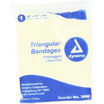 Dynarex 12 Triangular Bandage 40x40x56, 12 Count