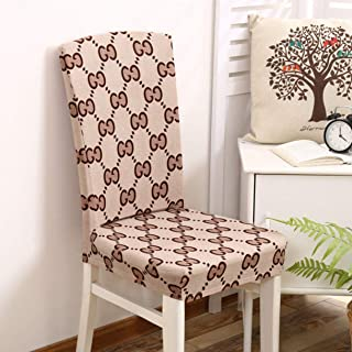 TANGOGO Spandex Chair Covers Elastic Mandala Plant Flower Pattern Simple Style Chair Covers Dustproof Stretch Modern