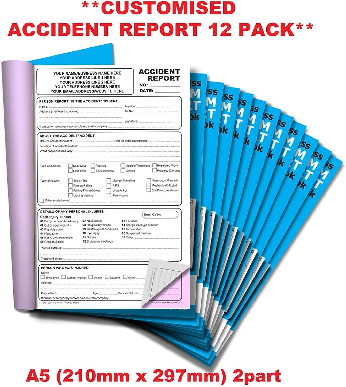 Cherry kohlenstofffreien NCR   Custom   Unfall Unfall Unfall Bericht 1 Durchschlag Buch A5 50 Sets   12 Stück   B07CCP4271   Deutschland Berlin  bc59ca