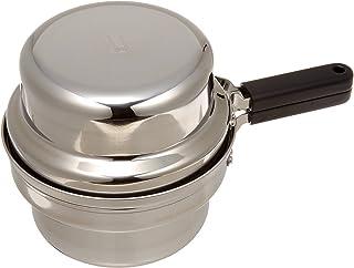 オークス 日本製 IH対応 片付け簡単 天ぷら鍋セット オイルポット 温度計付 T23 シルバー 2L