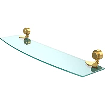 Matte Black Allied Brass 433G//18-BKM Venus Collection Beveled Glass Shelf 18-Inch by 5-Inch