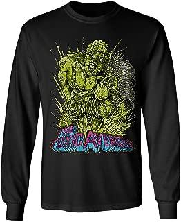 RIVEBELLA New Novelty Tee Toxic Avenger Mens Long Sleeve T-Shirt