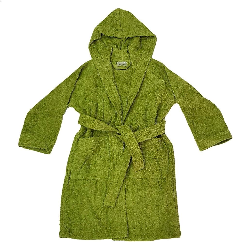 Bassetti dream ,accappatoio in spugna di 100% cotone, con cappuccio per bambini,unisex Germoglio - 1266