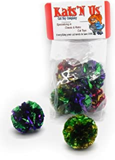Mylar Crinkle Ball Cat Toy - 5 Pk