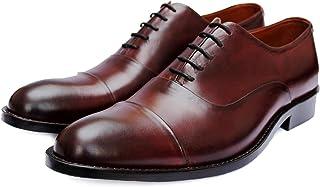 Men's Escobar Cap-Toe Oxford Shoes in Genuine Calfskin Leather