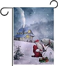 """Huis Tuin Vlag DubbelzijdigLente Zomer Yard Outdoor Decoratie 28x40"""", Kerstmis"""