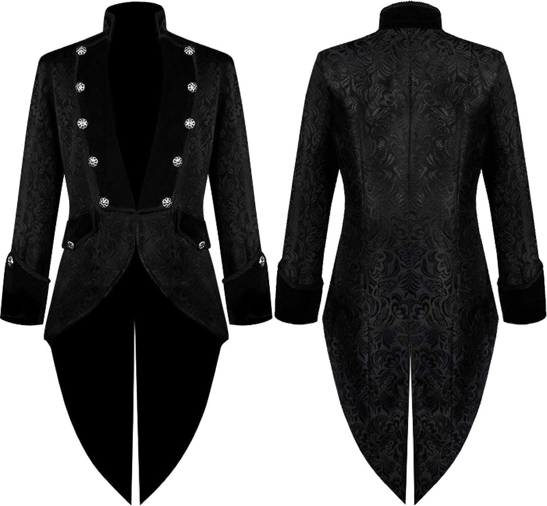 Men Winter Warm Vintage Tailcoat Jacket Overcoat Outwear Buttons Coat V159