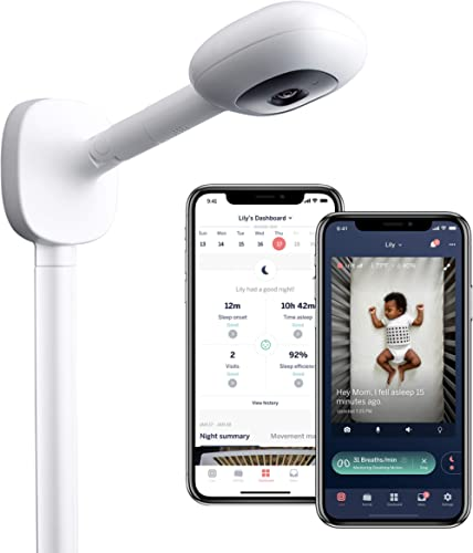 Nanit Plus - Smart Baby Monitor and Wall Mount: Camera with HD Video & Audio - Sleep Tracking - Night Vision - Temperature & Humidity Sensors and Two-Way Audio product image