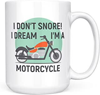 Harley Davidson Grandpa Mug Gifts – I don't Snore I Dream I'm a Motorcycle - Biker Grandpa Mug – Cool Uncle Grandpa Coffee Mug Funny Tea Cup - Ceramic 15oz