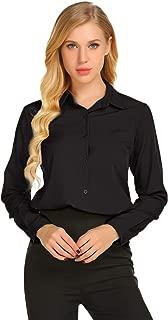 Zeagoo Women's Button Down Shirts Long Sleeve Polka Dot Blouse Top