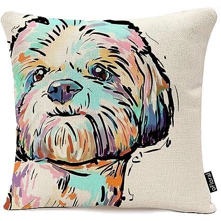 Lovely Dog Animal Pattern Waist Cushion Cover Throw Pillow Case Car Home Decor