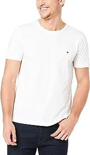 Tommy Hilfiger Men's Essential Cotton Tee, Bright White, SM