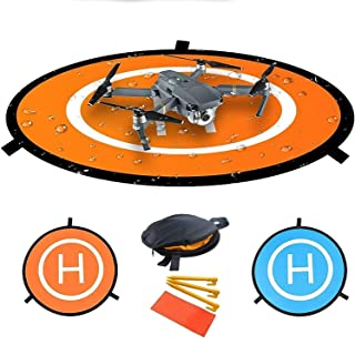 OLOEY Waterproof Fast-fold Double Sided Quadcopter Drone Landing Pads (75cm/ 30in)