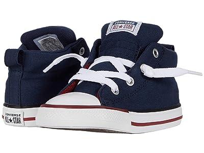 Converse Kids Chuck Taylor(r) All Star(r) Street Varsity (Infant/Toddler) (Obsidian/White/Team Red) Boy
