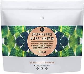 L. Organic Chlorine Free Regular Pads - 42ct