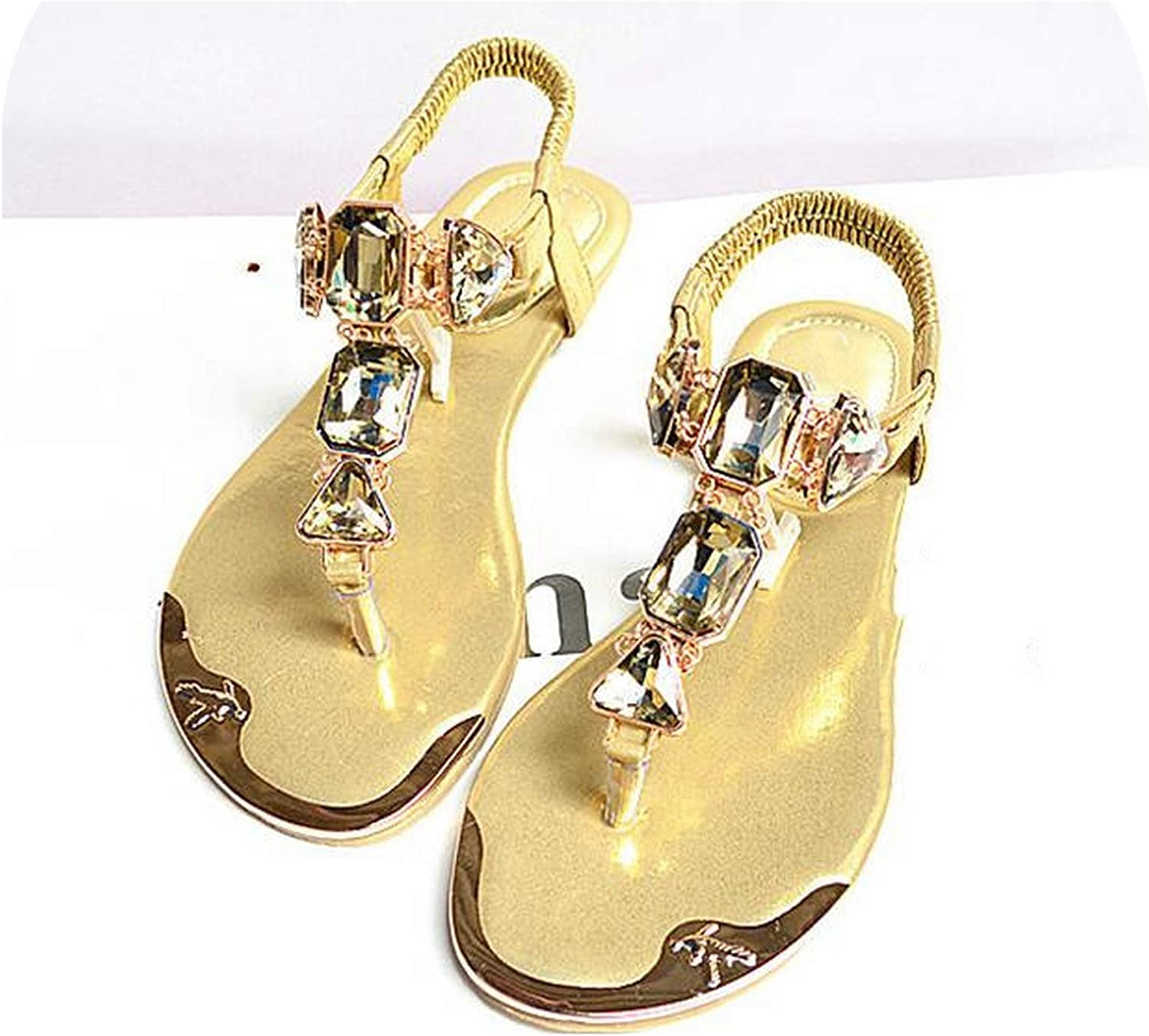 shoes Women Sandals Fashion Rhinestone Summer shoes gold Women Sandals Clip Toe Women shoes Sandalia Feminina