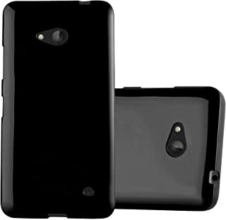 Cadorabo Case Works with Nokia Lumia 640 in Jelly Black – Shockproof and Scratch Resistant TPU Silicone Cover – Ultra Slim Protective Gel Shell Bumper Back Skin