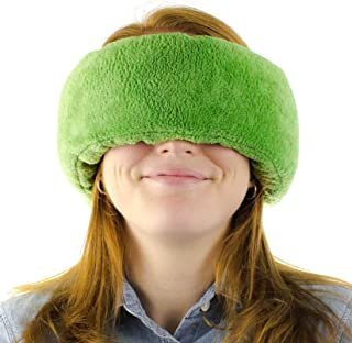 Wrap-a-NapTM Travel Pillow, Sleep Mask & Ear Muff in One. Sleep Anywhere on Airplanes, Cars, Camping, Dorm Rooms, in The Office or at Home. Ultra-Soft Neck Pillow & Reading Pillow. (Forrest (Green))