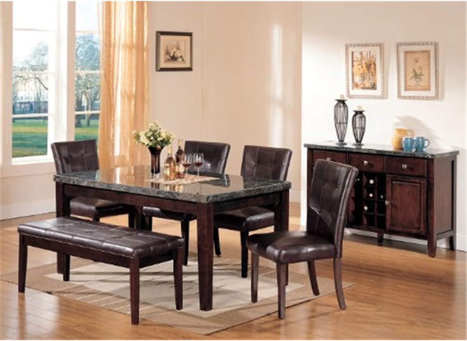 ACME Danville Bench - Espresso 07069 Walnut Don't miss the campaign Raleigh Mall PU
