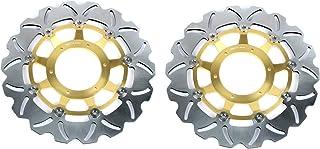 TARAZON 2PCS Anteriore Dischi Disco Freno per Non-ABS R850R 94-03// R1100R 95-01// R1100RT 94-01// R1100RS 92-01// K100 RS 89-93// K1 1000 89-93// K 1100 LT RS 89-00