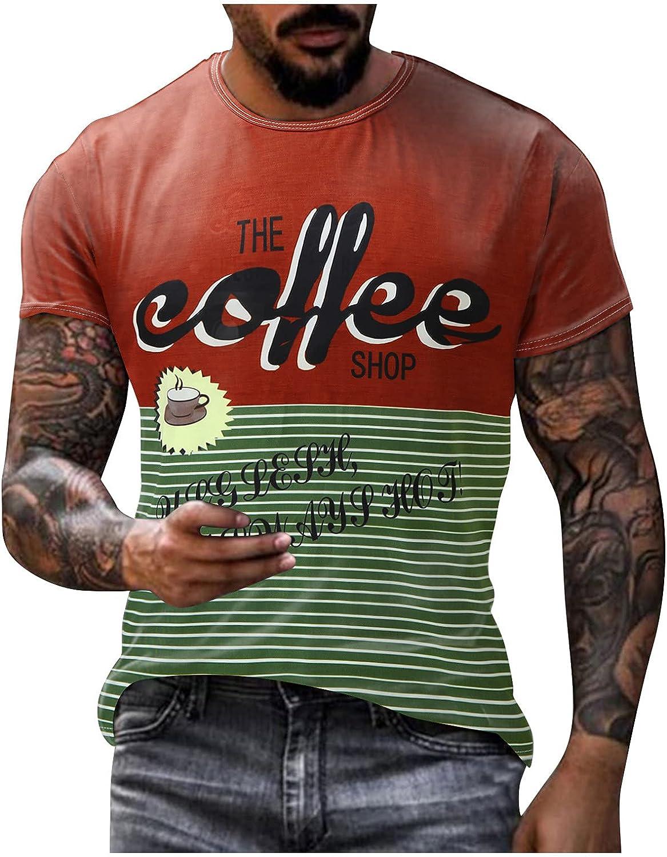 Men's Street Vintage T Shirt Basic Tee Round Neck Trend Short Shirt for Men Outdoor Workout Tops Blouse