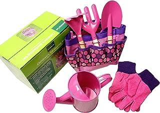QPY Juego de Herramientas de jardinería para niños Juego de jardinería para niños con regadera, Guantes, Pala, rastrillo, ...