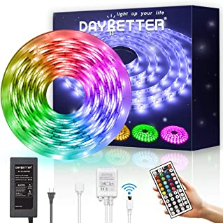 Daybetter Led Strip Lights Kit Rgb 16.4ft with Remote Controller for Party Home Decoration Kicthen Bedroom
