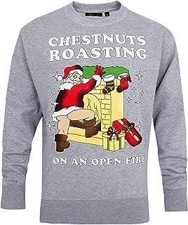 Mens Retro Vintage US President Donald Trump Merry Christmas Ya Filthy Animal Santa Chestnuts Roasting Santa's Coming Ugly...