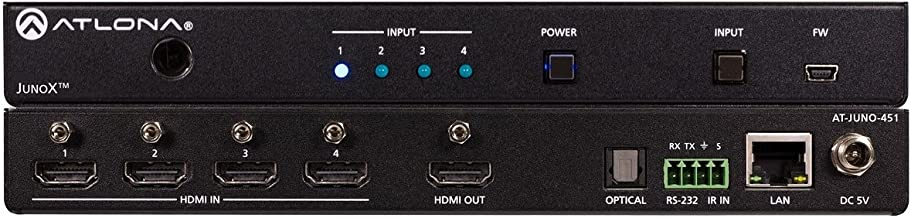 Atlona AT-JUNO-451   4K HDR Four Input HDMI Switcher
