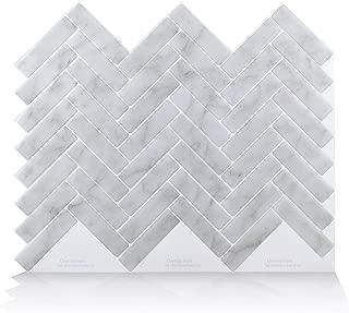 Vamos Tile Premium Anti Mold Peel and Stick Tile Backsplash,Stick On Backsplash Wall Tiles for Kitchen & Bathroom-Self Adhesive-10.62
