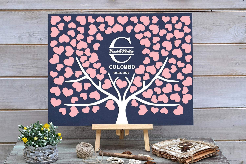PotteLove 3D Love Max 68% OFF Tree Wedding Guest Custom Book C Alternative - New York Mall