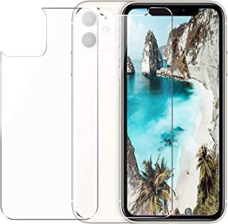 Front Back Screen Protector for iPhone 11 [2-Pack], Rear Tempered Glass [3D Touch] Temper Glass Film Anti-Fingerprint/Scra...